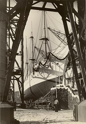 USCGC Eagle (WIX-327) - Launching under the name Horst Wessel