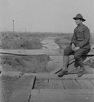 Call Field - Howard C. Wahlen, Squadron B, of Raymond, WA at Call Field, Wichita Falls, TX 1918.