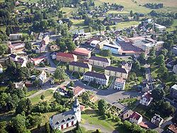 Aerial view of Hranice