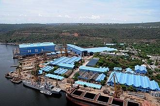 Hindustan Shipyard - Image: Hsl view