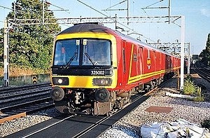 British Rail Class 325 - Class 325s on the week-day Willesden to Shieldmuir Mail passing Harrow & Wealdstone in 2009