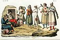 Hungarian traditional costumes, Illustration for Il costume antico e moderno by Giulio Ferrario 1831 (12).jpg