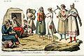 Hungarian traditional costumes, Illustration for Il costume antico e moderno by Giulio Ferrario 1831 (12).jpg