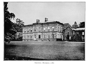Huntroyde Hall - Huntroyde Hall c.1880 (much of the building has since been demolished)