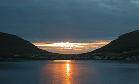 Hvalba sunset, Faroe Islands.jpg