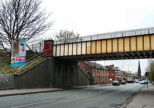 Hyde Road railway station - The railway bridge next to the site of the former Hyde Road Station