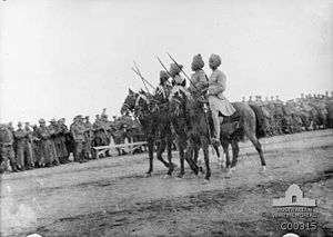 Military operations in North Africa during World War I - Image: Hyderabad Lancers 1916