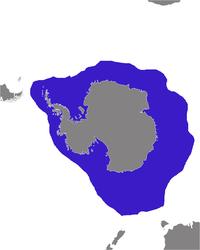 Distribuição geográfica da foca leopardo