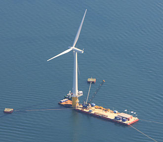Siemens Wind Power - Hywind floating wind turbine.
