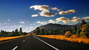 Interstate 40 near Flagstaff, Arizona