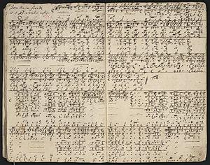 Jesu, meine Freude - The tablature score of Buxtehude's cantata BuxWV 60