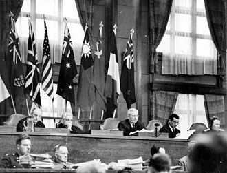 William Webb (judge) - Webb presiding over the International Military Tribunal for the Far East in 1946.