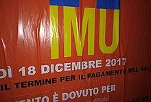 Manifesto Stradale Informativo Sullu0027IMU 2017, Torino
