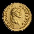 INC-3008-a Ауреус. Домициан, цезарь. Ок. 74 г. (аверс).png