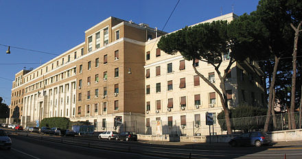 Sede dell'Istituto superiore di sanità a Roma.