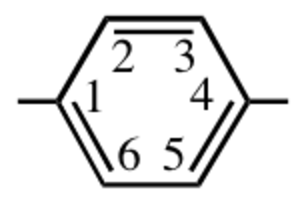 IUPAC polymer nomenclature - IUPAC 1,4-phenylene divalent group
