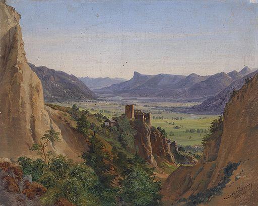 Ignaz Dorn Blick auf die Brunnenburg 1863