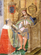 Illuminated Portrayel of King Duarte I of Portugal, Rui de Pina.PNG