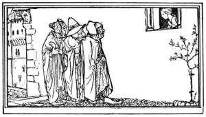 The Three Spinners - 1912 illustration by Robert Anning Bell