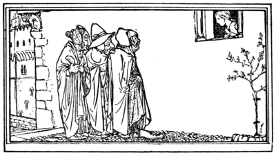 Illustration at page 118 in Grimm's Household Tales (Edwardes, Bell)