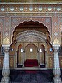 Inde Bikaner Junagarh Fort Anup Mahal Trone - panoramio.jpg