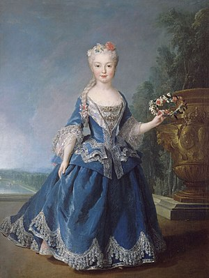 Alexis Simon Belle - Mariana Victoria of Spain, fiancée of Louis XV, later Queen of Portugal