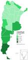 Inmigrantes en Argentina por provincia - Censo 2010.png