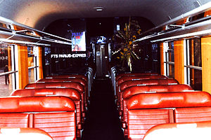 Corail (train) - Interior of second class Corail coach, about 1976