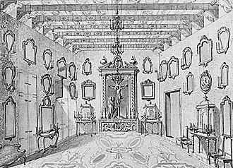 Casa de la Ciutat (Valencia) - Inside of the Hall of the Council or Hall of the Angels of the Casa de la Ciutat, Valencia, (c. 17th century).