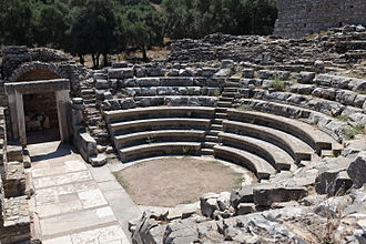 Iasos - Interior of bouleuterion