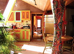 Interior of the Solaria Earthship.JPG
