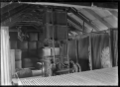 Interior of the woolshed on the Mendip Hills sheep farm, Hurunui District. ATLIB 284007.png