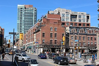 Old Town, Toronto - View of Old Town from the southwest corner of Jarvis and King Street East