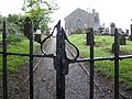 Iron gates and church at Balrothery - geograph.org.uk - 450785.jpg