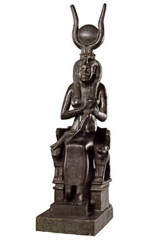 Horned deity - Isis with horns