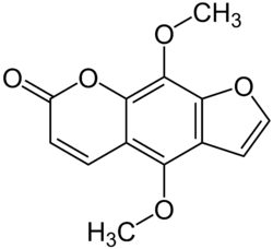 Chemical structure of isopimpinellin.