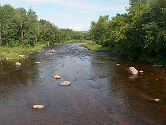 Israel River - The Israel River in Lancaster, New Hampshire