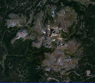 Itcha Range - Satellite image of the Itcha Range