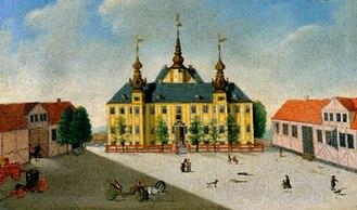 Jægerspris Castle - Jægerspris Castle painted by Hans Heinrich Eegberg in 1745