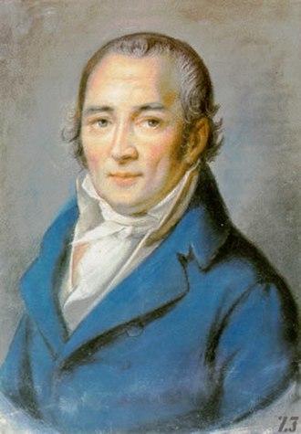 Johann Peter Hebel - Portrait of Hebel by Philipp Jakob Becker