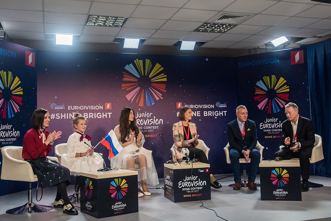 JESC 2017. Polina Bogusevich at press conference.jpg