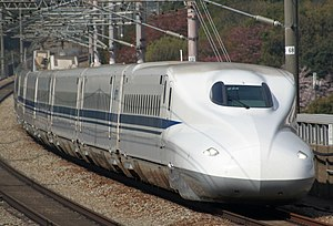 N700 Series Shinkansen - JR Central N700 series set Z28 on the Sanyo Shinkansen in April 2009