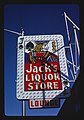 Jack's Liquor sign, Central Avenue, Albuquerque, New Mexico (LOC).jpg