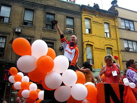Layton making an appearance in Toronto's Pride Parade in 2009 Jack Layton June 28 2009 Toronto Pride Parade.jpg