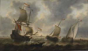 Jacob Adriaensz Bellevois - Image: Jacob Adriaensz Bellevois Ships at Sea Walters 372499