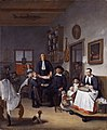 Jacob Franszn (ca 1635-1708) and family in his barber-surgeon shop, by Egbert van Heemskerck (ca 1634 - 1704).jpg