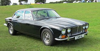 Jaguar XJ - The Jaguar XJ12, launched during the summer of 1972, featured a simplified grille.