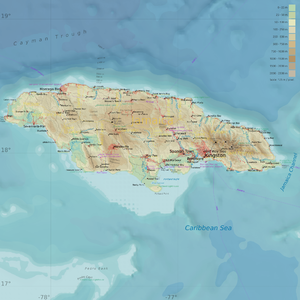 Geography of Jamaica - Map of Jamaica