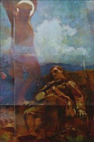 British propaganda during World War I - James Clark - The Great Sacrifice, 1914.
