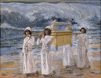 Book of Joshua - The Ark Passes Over the Jordan (watercolor circa 1896–1902 by James Tissot)